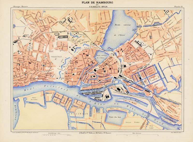Гамбург карта 1888 г.