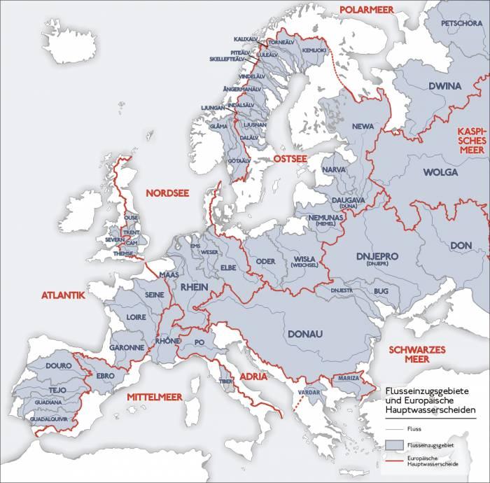 бассейны европейских рек