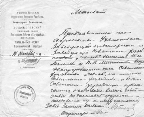 1919 мандат