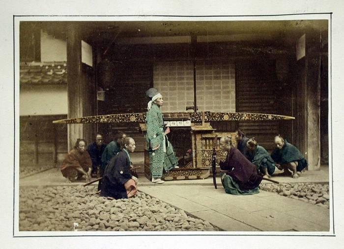 паланкин 1875 Япония