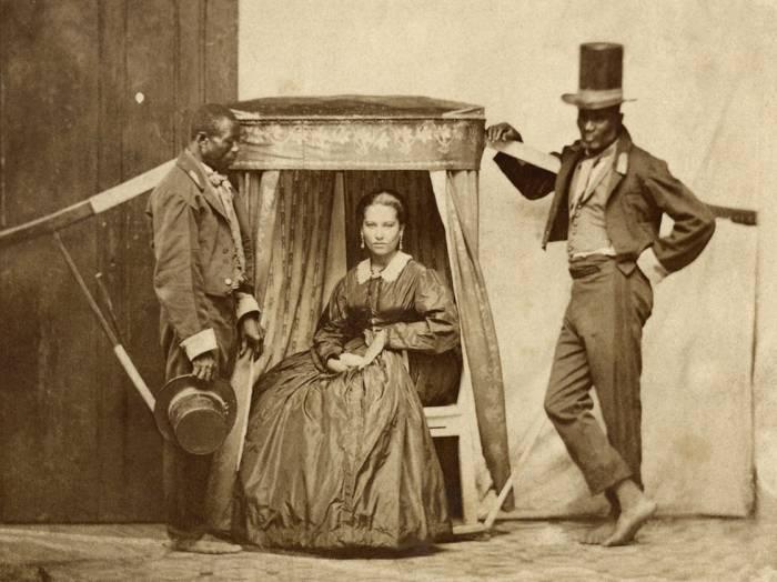 паланкин 1860 Бразилия