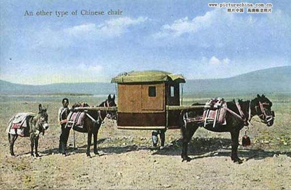 паланкин китайский 19 век на лошадях
