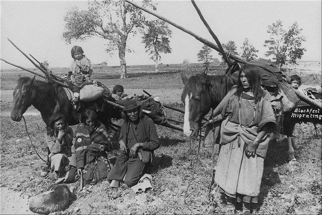 волокуша индейцы лакота черноногие