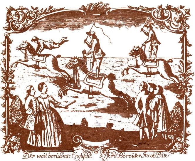 конные трюки Германия 1760-е
